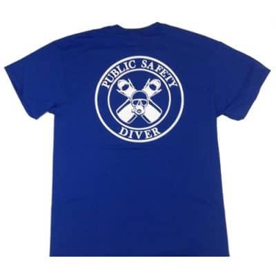 Public Safety Diver T-Shirt - Blue