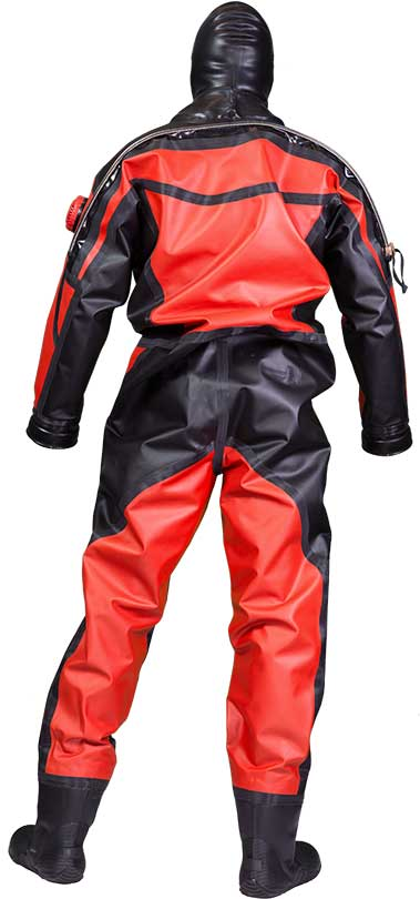 Aqua Lung HazMat PSD Drysuit backside