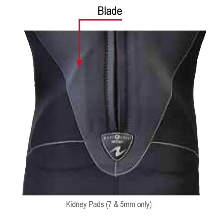 Aquaflex Aquaflex 7/5mm, 5/3mm & 3mm Back-Zip Jumpsuits Blade